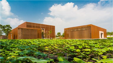 将生态保护,文化传承,绿色建筑与当代设计美学理念结合在一起,使建筑图片